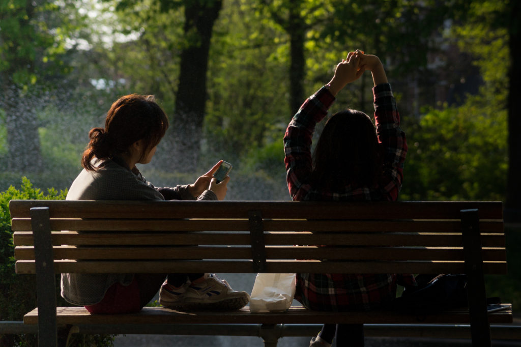 Phones in the park