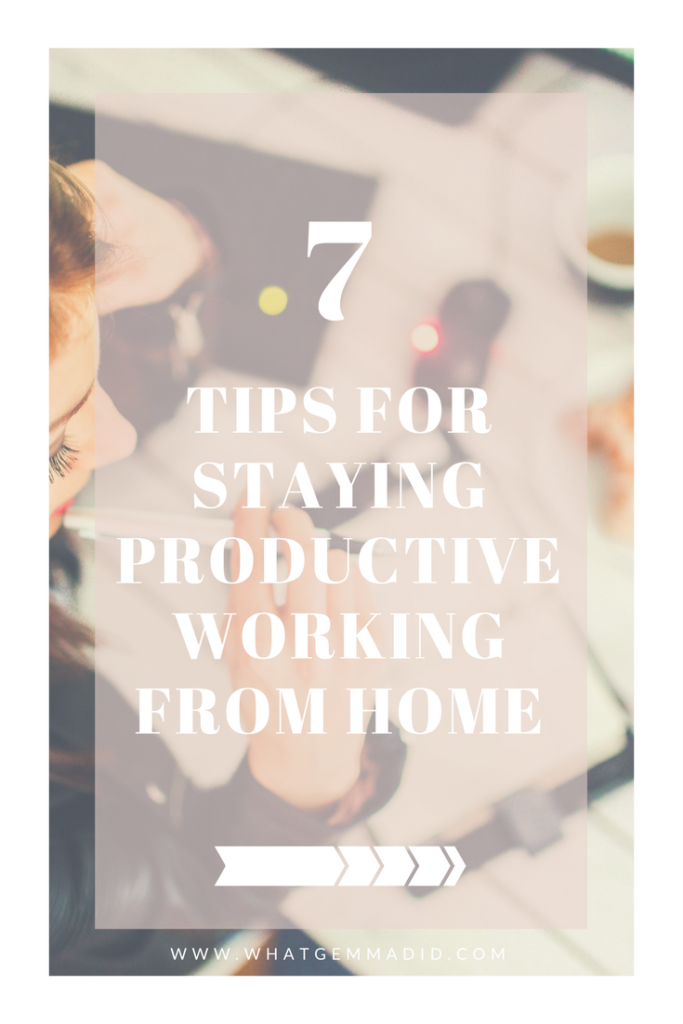 Working from home: Staying productive