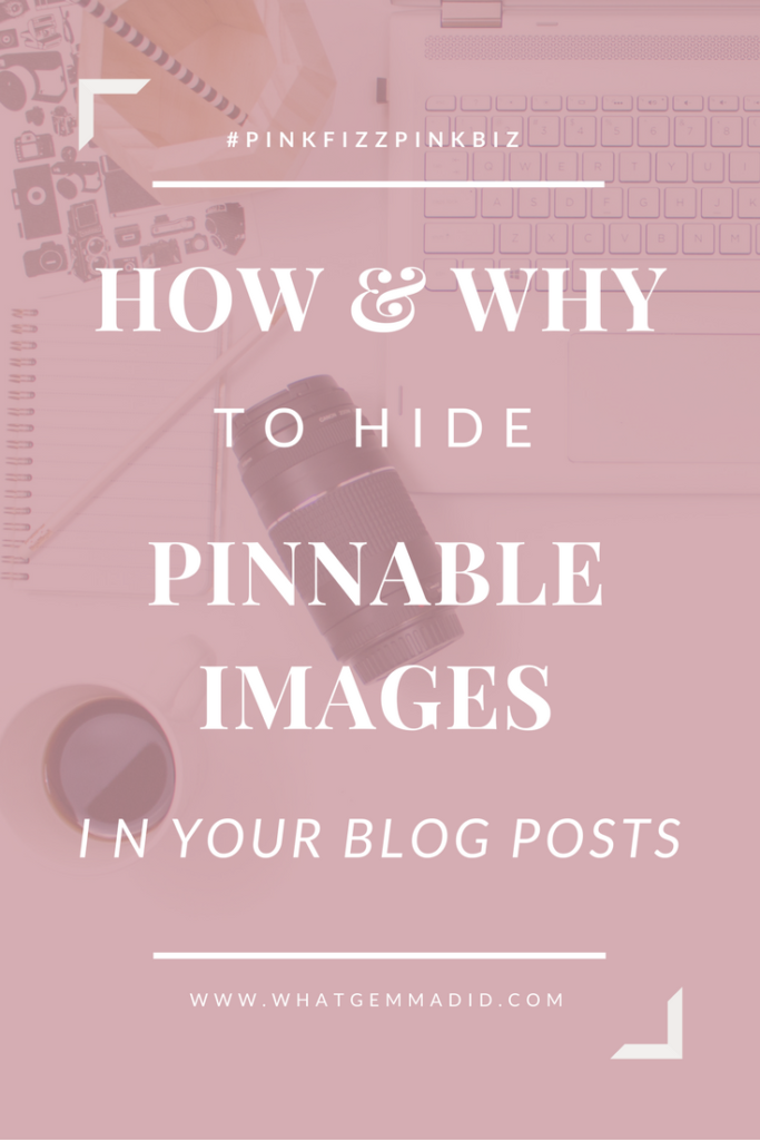 Multiple pin options in a blog post give readers a choice when pinning your blog post, find out how to hide pinnable images in your blog posts.