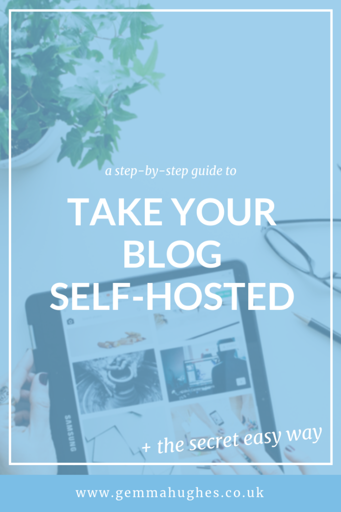 take your blog self hosted: step by step