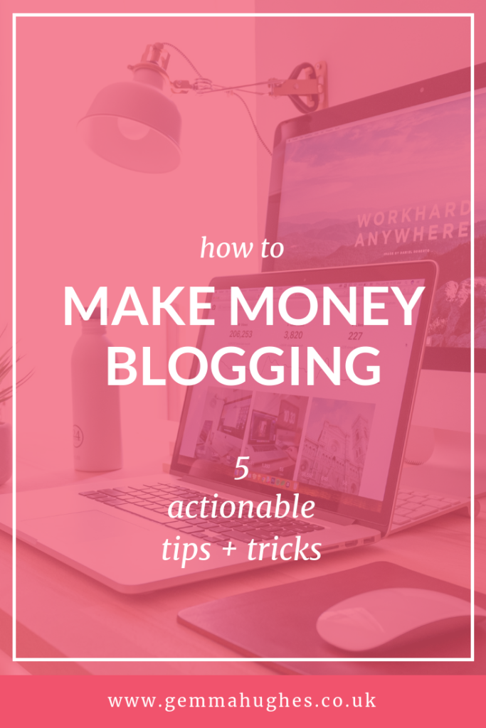 Don't delay, start to make money blogging TODAY with five actionable tips and tricks that'll empower you to create a passive income from your blog, quickly.